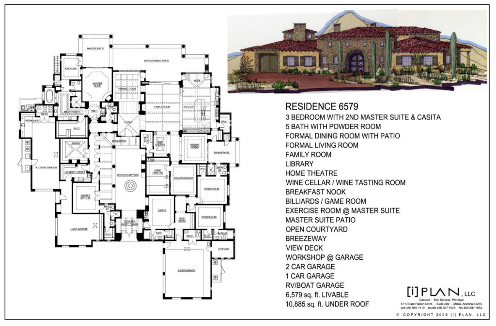 Floor plans for House plans over 5000 square feet