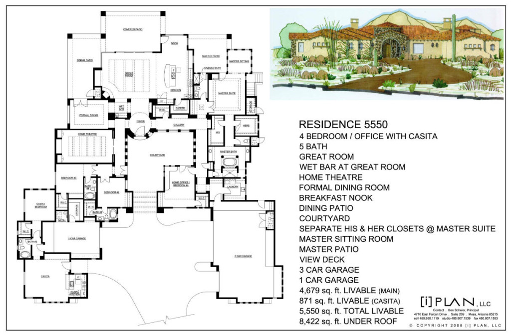 Catchy Collections Of 10000 Square Foot House Plans