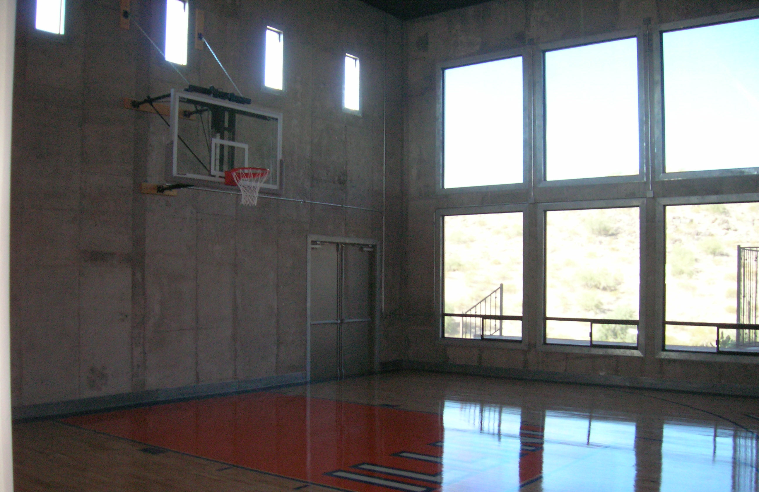 Home basketball court design for Custom indoor basketball court