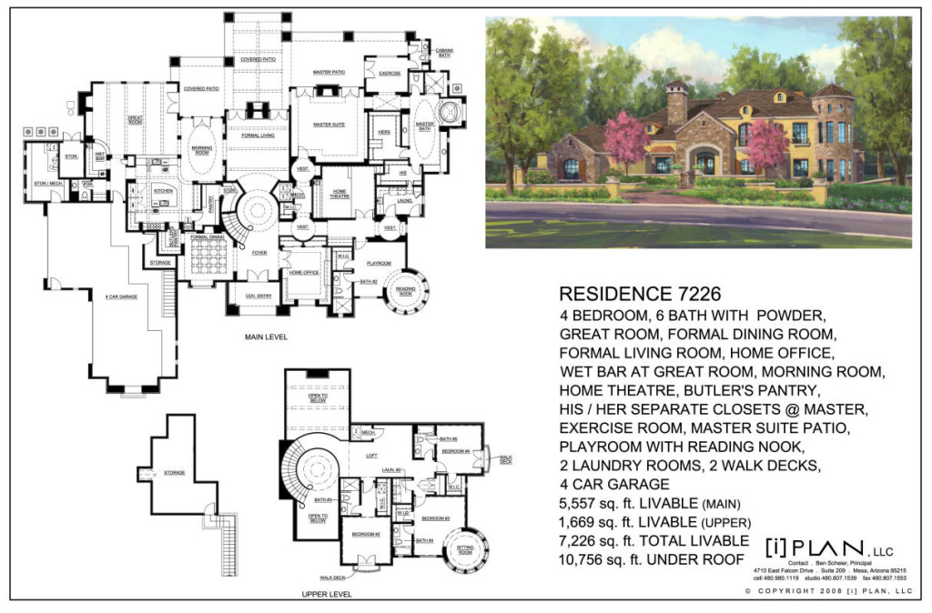 French country estate for Estate plans designs