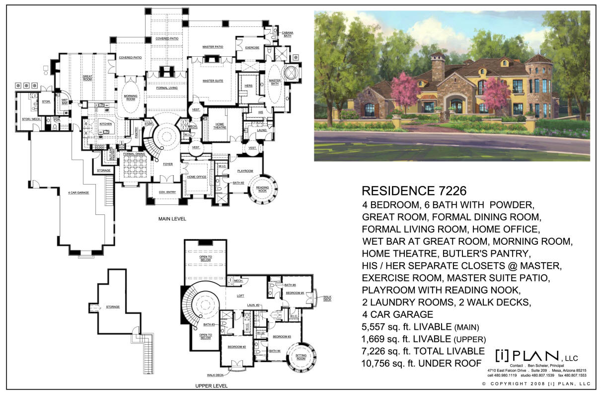 French country estate for Modern house plans 5000 square feet