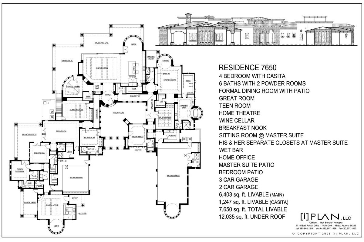 floor plans 7 501 sq ft to 10 000 sq ft For10000 Square Foot Home Plans