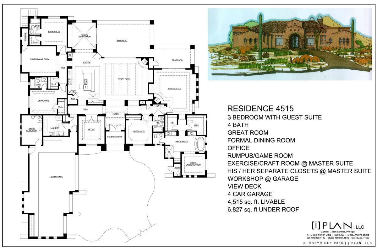 floor plans to 5 000 sq ft For5000 Sq Ft House Plans