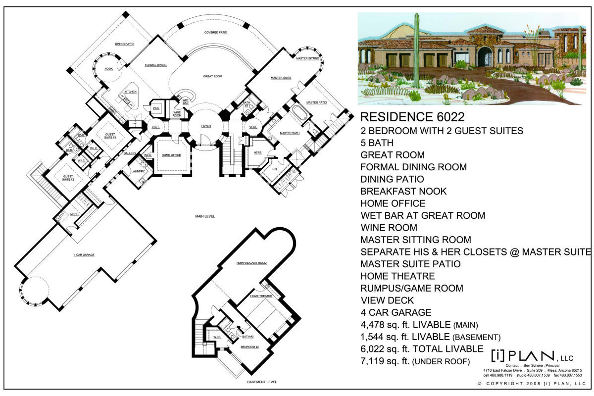 Floor plans 5 001 sq ft to 7 500 sq ft for Floor plans 640 square feet