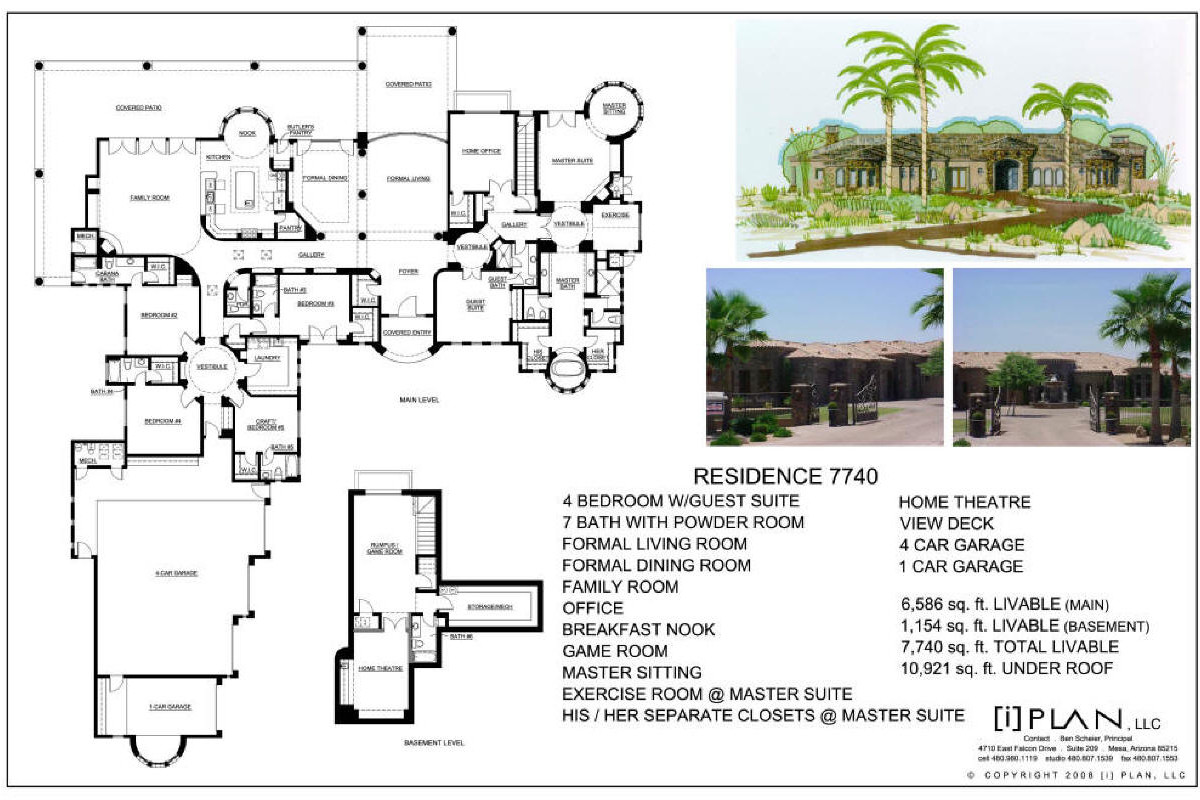Floor plans 7 501 sq ft to 10 000 sq ft for 7000 sq ft house plans