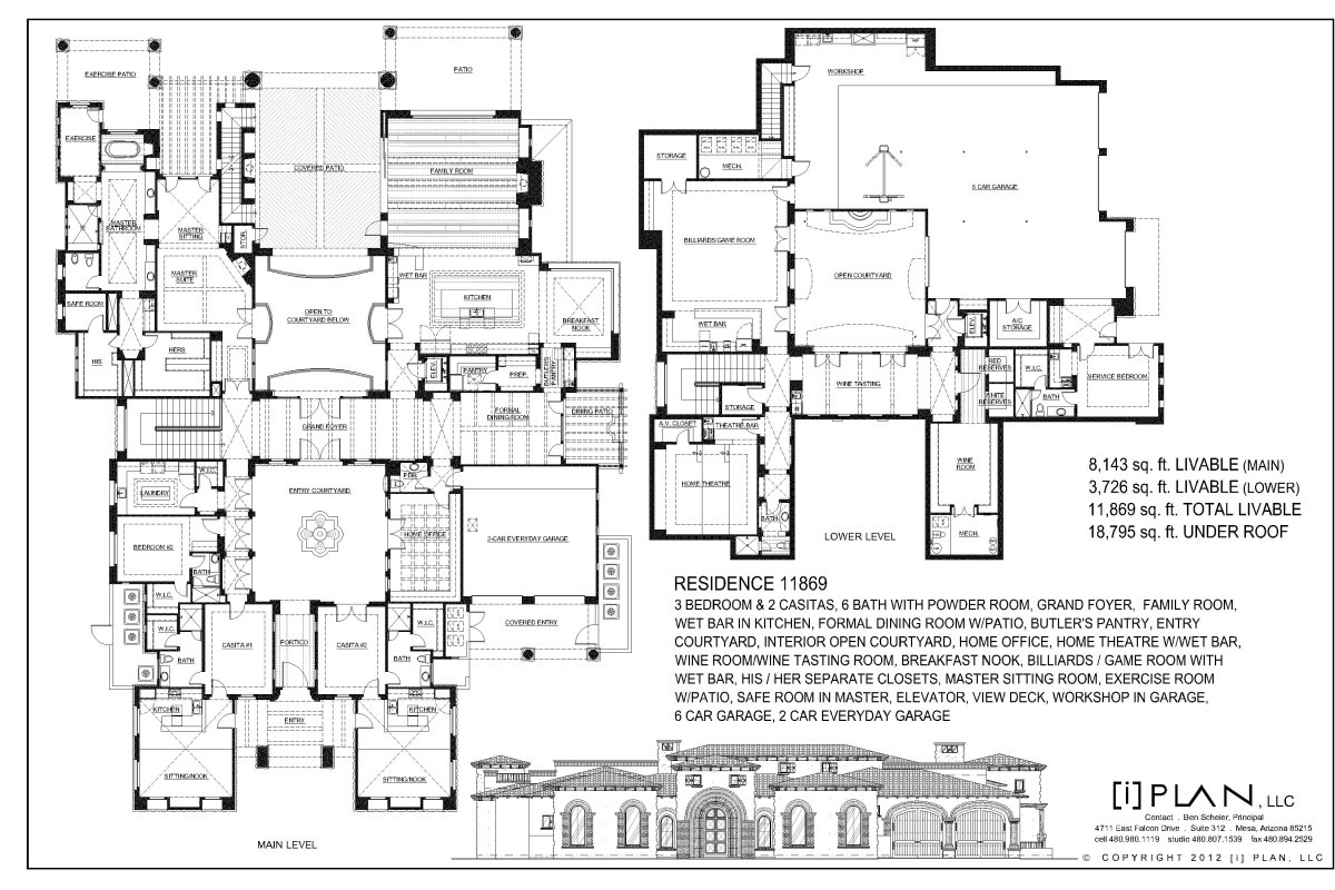 Floor plans 10 001 sq ft and up for Floor plans with photos