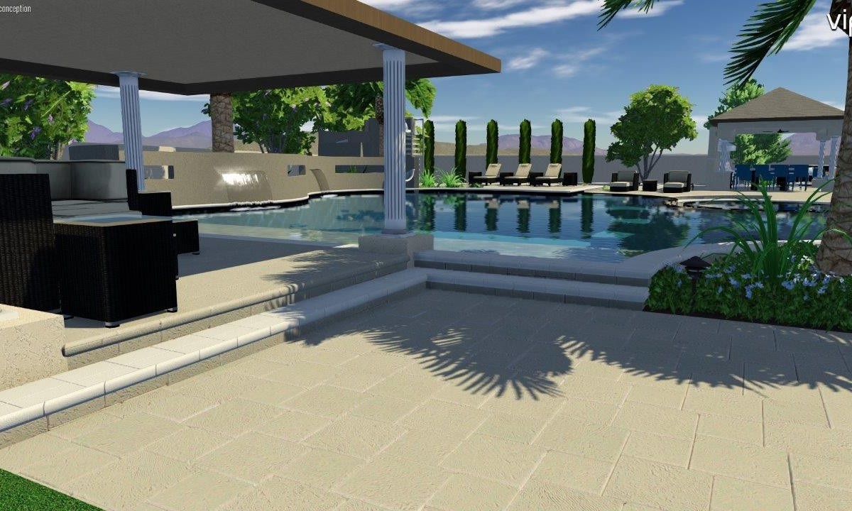 Amazing Pool Design Concept For A Current Project In Seville Golf And Country Club