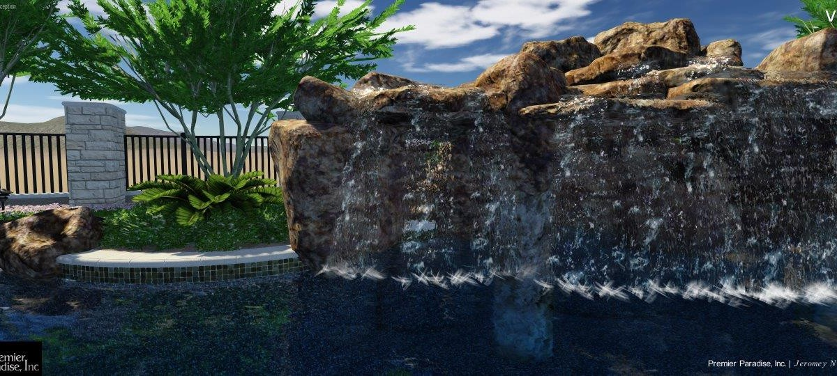 Pool design concept for a current project in las sendas for Pool design concepts llc