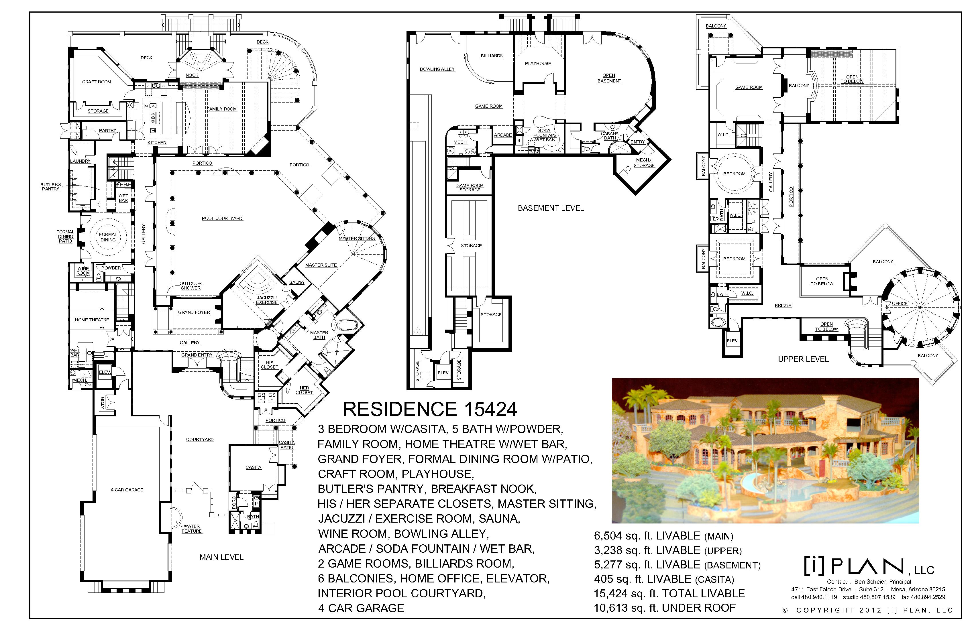 Palatial italian villa for Italian villa blueprints