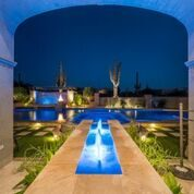Resort Style Pool in a Custom Home Design by I PLAN