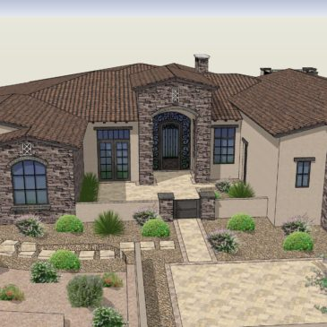 A Tuscan Farmhouse Currently Under Construction in Las Sendas